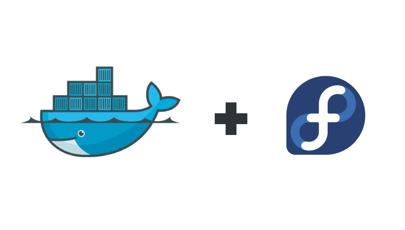 Fedora and Docker logos